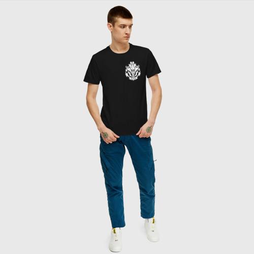 Мужская футболка хлопок белый оверлорд лого Фото 01