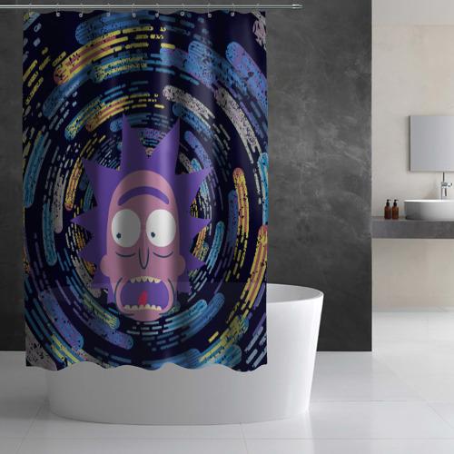 Штора 3D для ванной Screaming Rick Фото 01