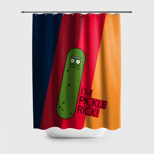 Штора 3D для ванной Pickle Rick Фото 01