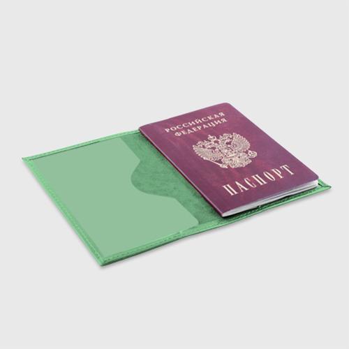 Обложка для паспорта матовая кожа Plumbus Фото 01