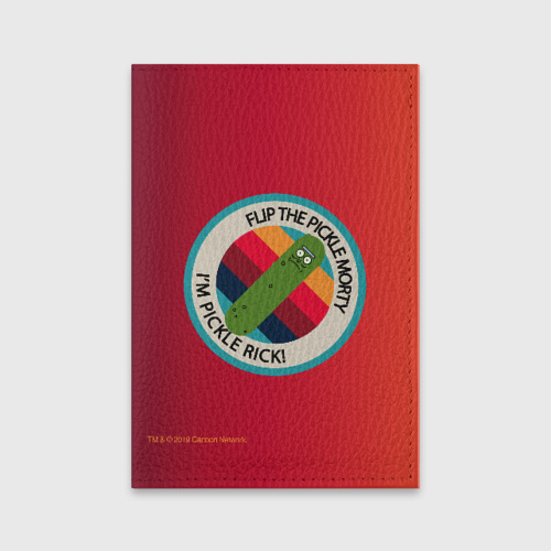 Обложка для паспорта матовая кожа I`m Pickle Rick! Фото 01