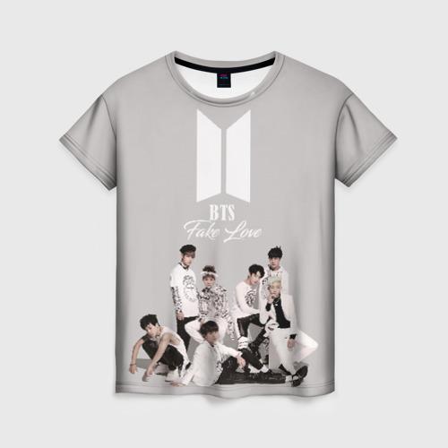 Женская футболка 3D BTS Take love Фото 01