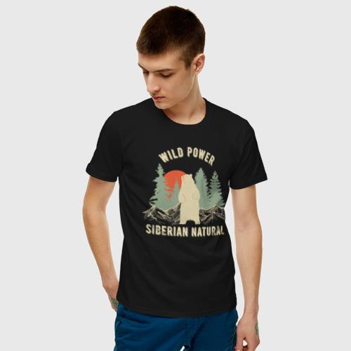 Мужская футболка хлопок Сибирь. Дикая сила Фото 01