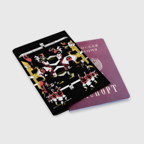 Обложка для паспорта матовая кожа Rick and Morty Black style Фото 01