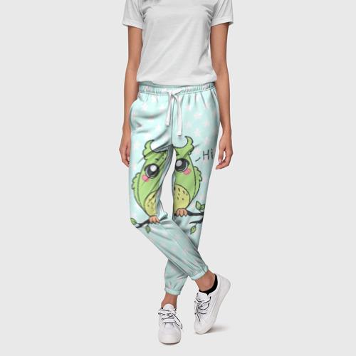 Женские брюки 3D Совушка 3D Фото 01