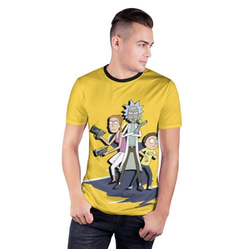 Мужская футболка 3D спортивная Summer, Rick, Morty Фото 01
