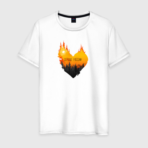 Мужская футболка хлопок Сердце России Фото 01