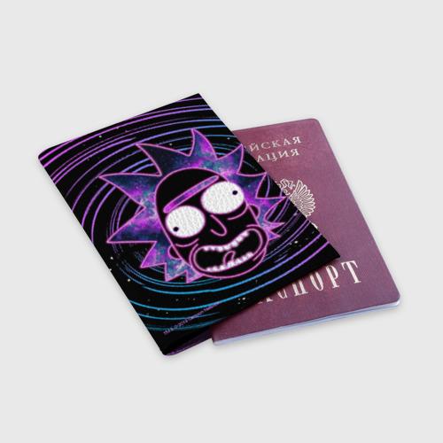 Обложка для паспорта матовая кожа Rick Sanchez Фото 01