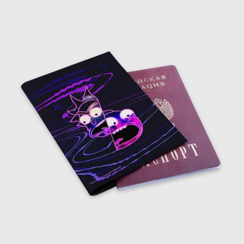 Обложка для паспорта матовая кожа Rick and Morty Фото 01