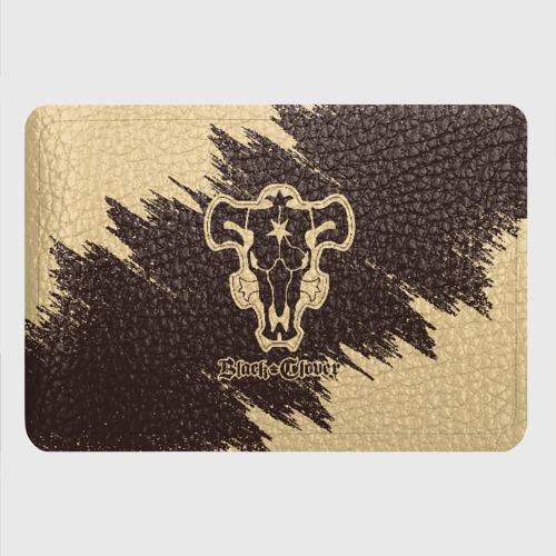 Картхолдер с принтом Коричневый логотип Чёрного Быка Фото 01