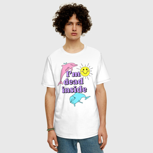 Мужская футболка хлопок Oversize Dead Inside Фото 01