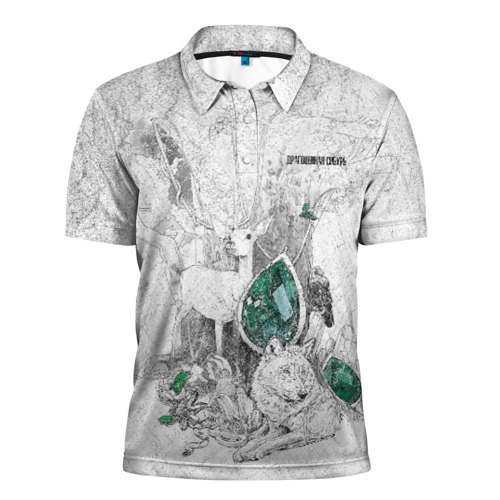 Мужская рубашка поло 3D Драгоценная  Сибирь