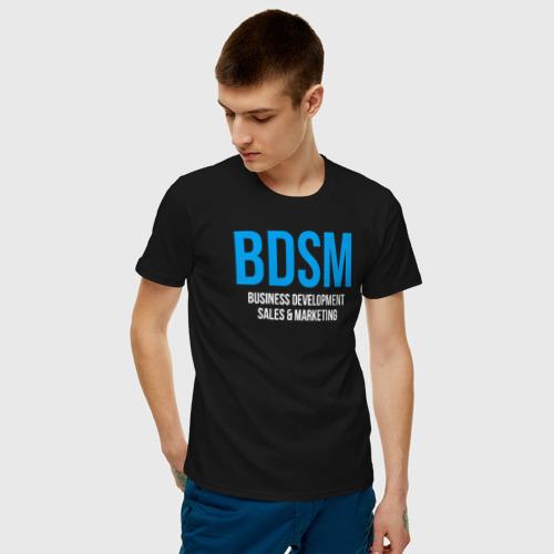 Мужская футболка хлопок BDSM white Фото 01