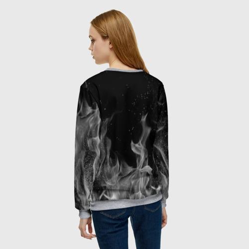Женский свитшот 3D L letter flame gray Фото 01