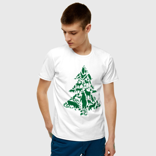 Мужская футболка хлопок Спаси Сибирь Фото 01