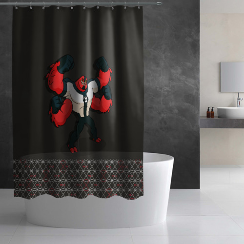 Штора 3D для ванной Fourarms Фото 01