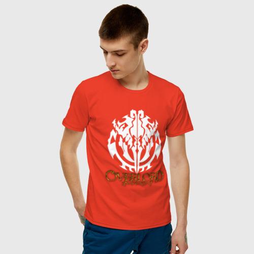 Мужская футболка хлопок Объемное лого оверлорд Фото 01