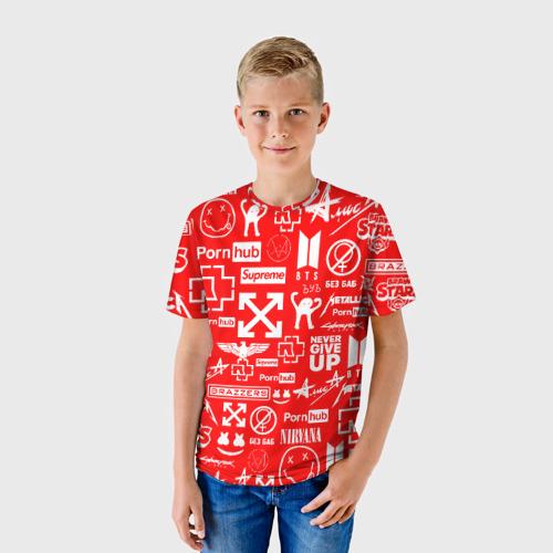 Детская футболка 3D ЛУЧШИЕ ПРИНТЫ LOGOBOMBING RED