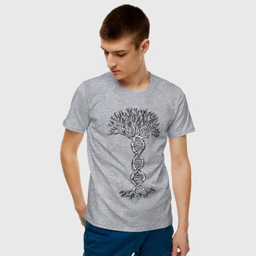 Мужская футболка хлопок Днк Дерево Фото 01