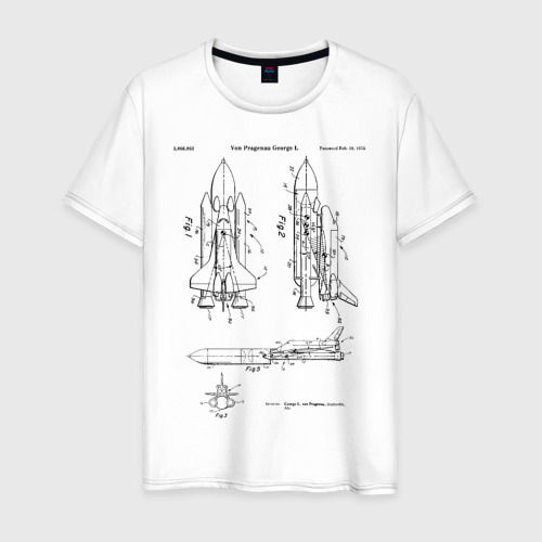Мужская футболка хлопок Patent nasa