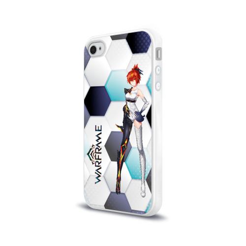Чехол для Apple iPhone 4/4S силиконовый глянцевый Warframe girl anime Фото 01