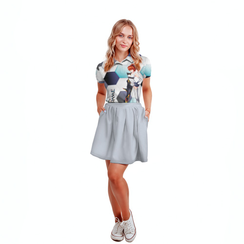 Женская рубашка поло 3D Warframe girl anime Фото 01