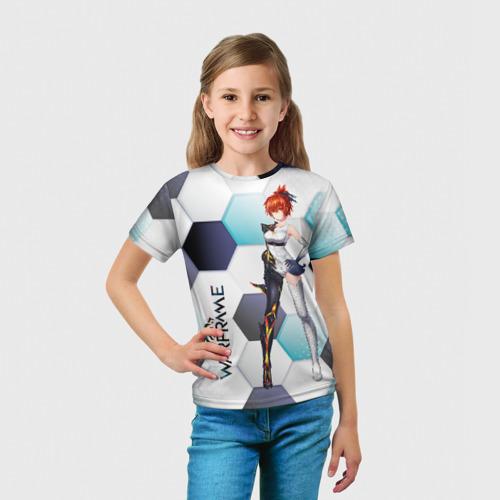 Детская футболка 3D Warframe girl anime Фото 01