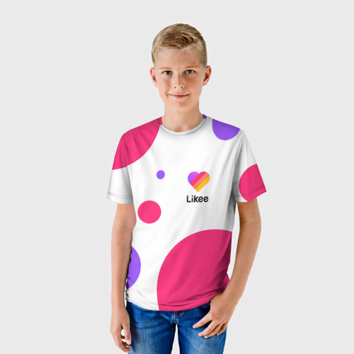 Детская футболка 3D LIKEE (Like Video)
