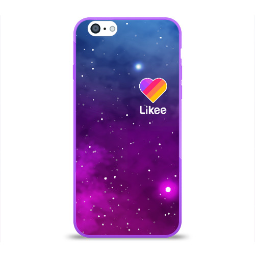 Чехол для Apple iPhone 6 силиконовый глянцевый LIKEE Space Фото 01