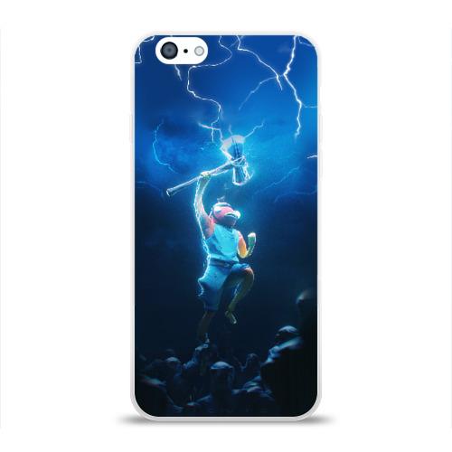 Чехол для Apple iPhone 6 силиконовый глянцевый КАРАСЬ FORTNITE Фото 01