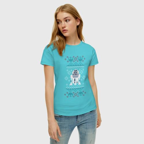 Женская футболка хлопок R2-D2 Christmas Sweater Фото 01