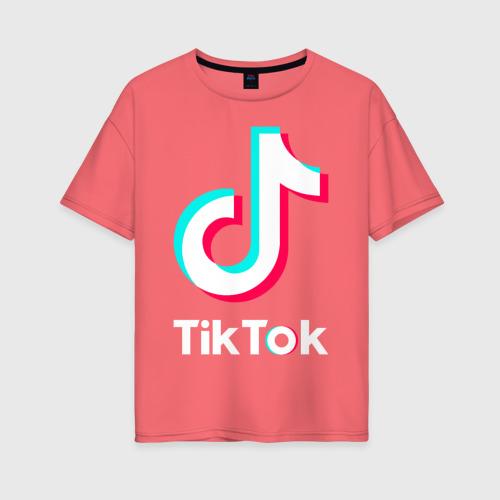 Женская футболка хлопок Oversize TikTok Фото 01