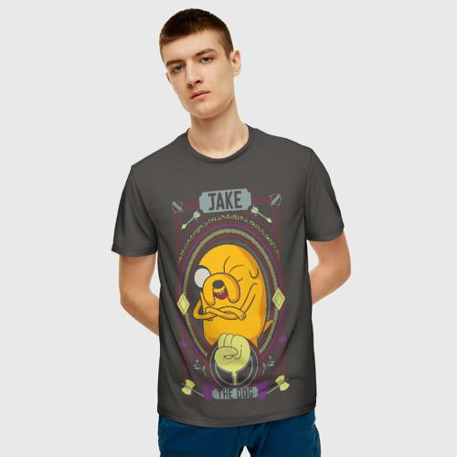 Мужская футболка 3D Jake. The dog Фото 01
