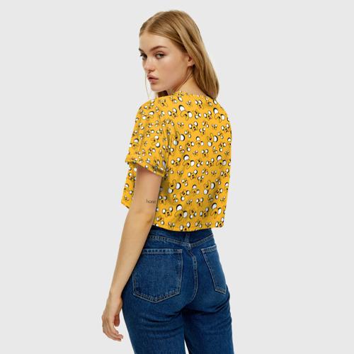 Женская футболка Crop-top 3D Джейк Фото 01