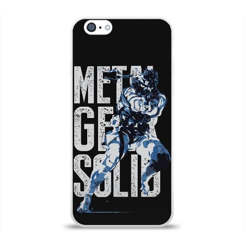Чехол для Apple iPhone 6 силиконовый глянцевый Metal Gear Фото 01