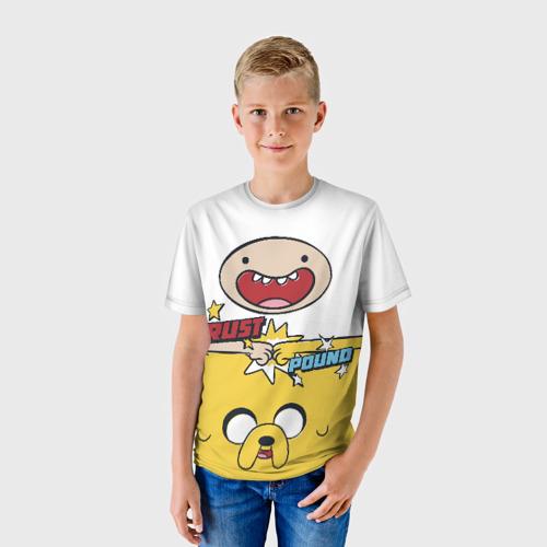 Детская футболка 3D Фин и Джейк Фото 01