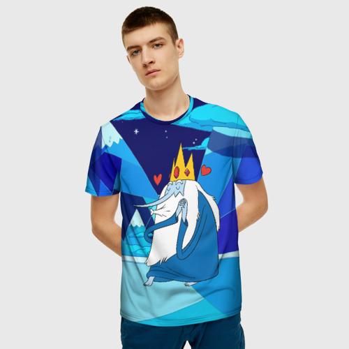 Мужская футболка 3D Ледяной король Фото 01