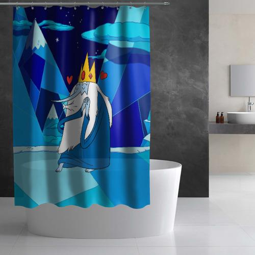 Штора 3D для ванной Ледяной король Фото 01