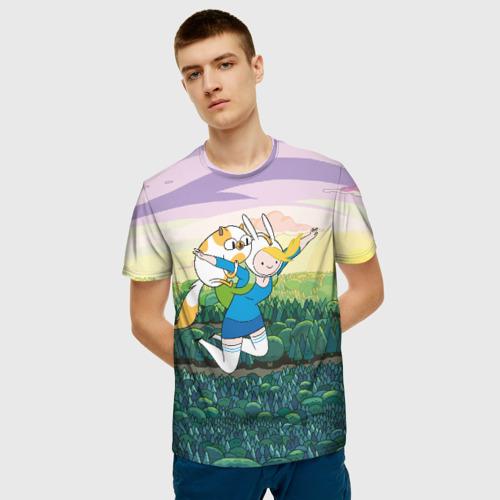Мужская футболка 3D Фиона и Кейк Фото 01