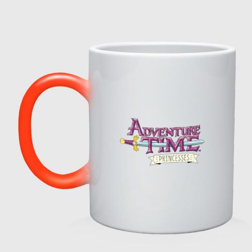 Кружка хамелеон Adventure time pink
