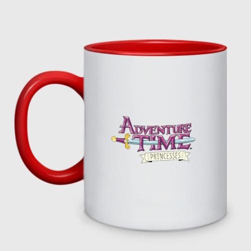 Кружка двухцветная Adventure time pink