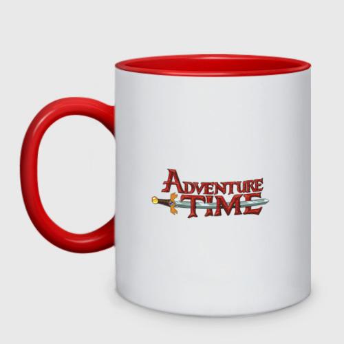 Кружка двухцветная Adventure time