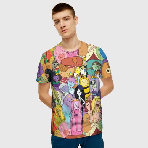 Мужская футболка 3D Adventure time Фото 01