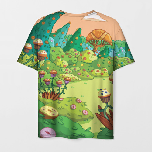 Мужская футболка 3D Ливнерог и Джейк Фото 01