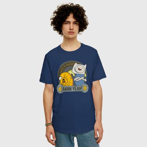 Мужская футболка хлопок Oversize Awww yeah! Фото 01