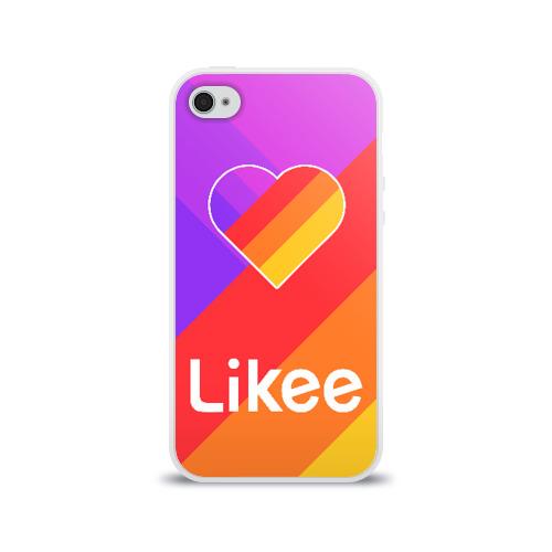 Чехол для Apple iPhone 4/4S силиконовый глянцевый РЮКЗАК LIKEE Фото 01