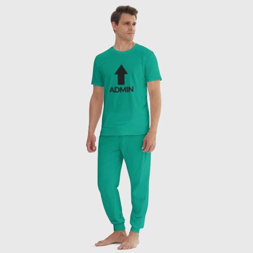 Мужская пижама хлопок Да, я Админ Фото 01
