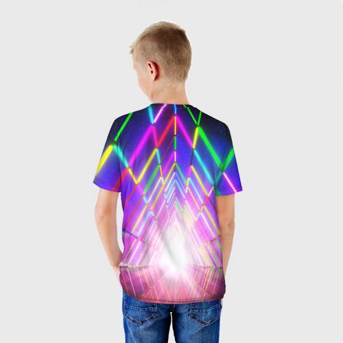 Детская футболка 3D РАДУЖНЫЙ НЕОН Фото 01