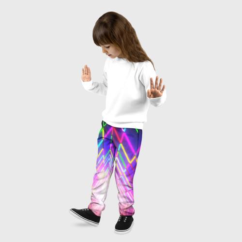 Детские брюки 3D РАДУЖНЫЙ НЕОН Фото 01