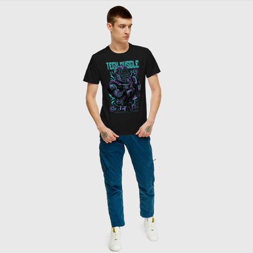 Мужская футболка хлопок Неоновая Горилла Фото 01
